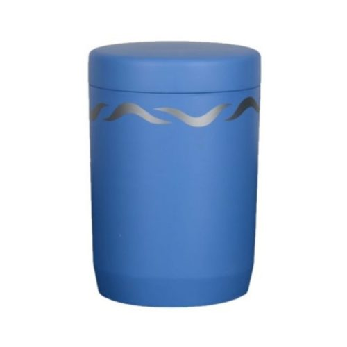 Urne funéraire immersible bleue