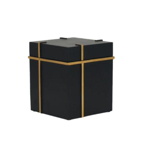 Urne funéraire cube noir
