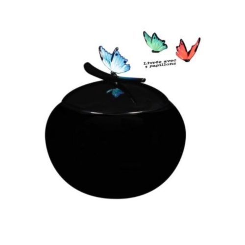 Urne funéraire en résine papillon