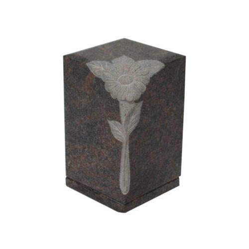 Urne funéraire sculptée en granit