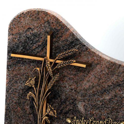 Plaque funéraire granit